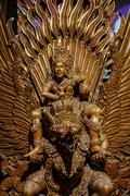 Garuda statue of the Hindu  Woodland Museum In Nakhon Pathom, Thailand Stock Photos