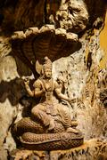 Stock Photo of Shiva carved wood