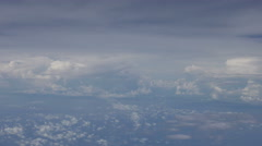 Jet Liner Cloud Base at 40000 feet Stock Footage
