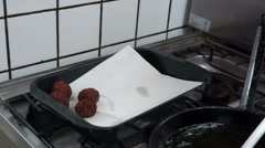 Fresh Falafel Making Falafel series Stock Footage