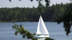 Sailboat, Sailing the seven seas Stock Footage