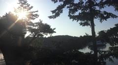 Sunrise ,ferryboat Stock Footage