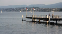 LAKE OF ZURICH, SWITZERLAND - timelapse Stock Footage