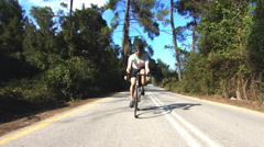 Stock Video Footage of Young Cyclist In Action