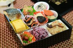 Catered lunch box - stock photo