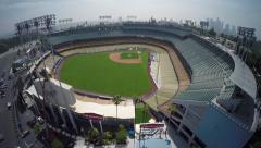 Dodger Stadium Aerial View - Los Angeles Stock Footage