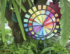 Color paper art decoration Stock Photos