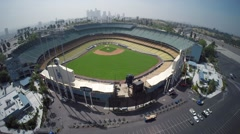 Stock Video Footage of Aerial View of Dodger Stadium - Los Angeles