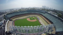 Aerial View of Dodger Stadium - Los Angeles - stock footage
