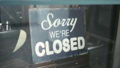 Sorry we are closed Stock Footage
