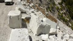Aerial  marble mine exterior 1 Stock Footage