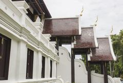 design of Thailand temple - stock photo