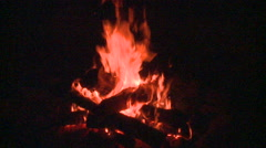 Roaring fire logs- campfire Arkistovideo