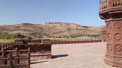 Panoramic view of landscape from a building pation in Jodhpur. Stock Footage