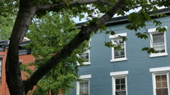 Beautiful Brooklyn Homes. Boerum Hill Old Architecture.  Stock Footage
