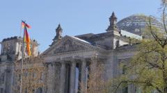 Reichstag german parliament facade 4k Stock Footage
