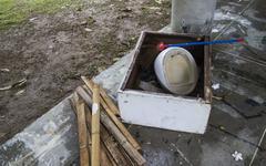 old Plumbing fixture - stock photo