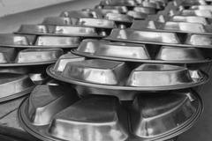metal dishware - stock photo