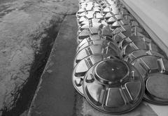 Metal dishware Stock Photos
