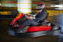 Business is like kart racing Stock Photos