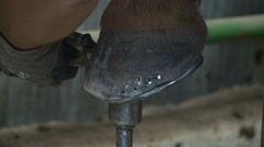 cowboy shoes horse- horseshoe tack - stock footage