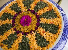 Stock Photo of Ixora petal decor art