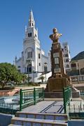 Bronze sculpture of Eloy Alfaro, historic liberal Ecuadorian president. Main Stock Photos