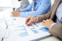 Analyzing report Stock Photos