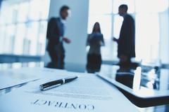 Agreement of partnership Stock Photos