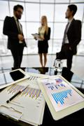 Charts and graphs Stock Photos