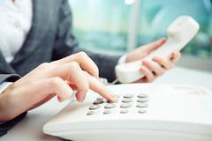 Dialing number Stock Photos