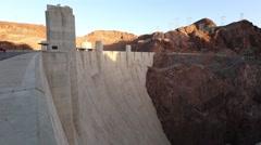 Hoover Dam slider shot - stock footage