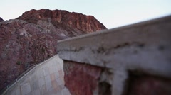 Hoover Dam spillway sliding reveal - stock footage