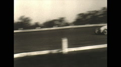 Vintage 16mm film, sprint race Williams Grove, good action 1949 Stock Footage