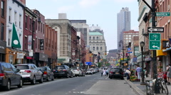 Smith Street in Cobble Hill in the Spring:Summer - stock footage