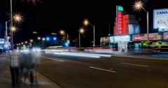 Motion timelapse of 109 street  by Garneau Theatre in Edmonton, Alberta. Stock Footage