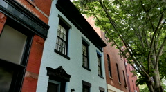 Historic Boerum Hill Homes in Brooklyn. Stock Footage