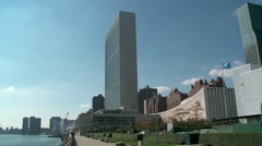 The United Nations Building on a Clear Day - stock footage
