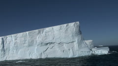 Huge Tabular Icebergs Stock Footage