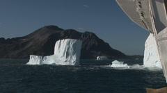 Huge Tabular Icebergs Stock Footage