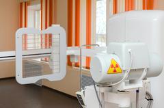 "Digital X-ray machine ""Pulmoskan"" in the X-ray polyclinics cabinet Stock Photos"