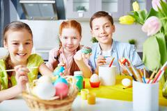 Preparation for Easter Stock Photos