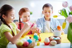 Easter creativity - stock photo