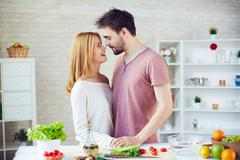 Kitchen romance Stock Photos