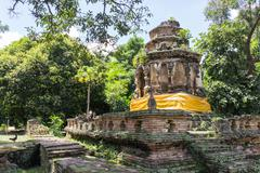 the architecture of ancient pagoda - stock photo