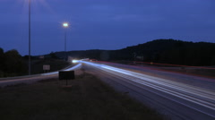 Cave City I-65 Interstate Timelapse Long Exposure Kentucky Stock Footage