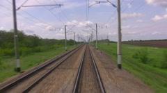 Railways in rural areas Stock Footage