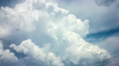 Stock Video Footage of 7 in 1 video! The puffy and thunderstorm clouds time lapse