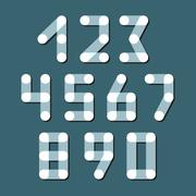 Numbers set modern style. Icons. Vector illustration - stock illustration