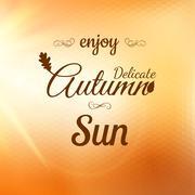 Enjoy Autumn Background. EPS 10 Stock Illustration